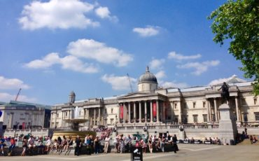 Partial view of Trafalgar Square and National Gallery in London. Photo Credit: © Ursula Petula Barzey.