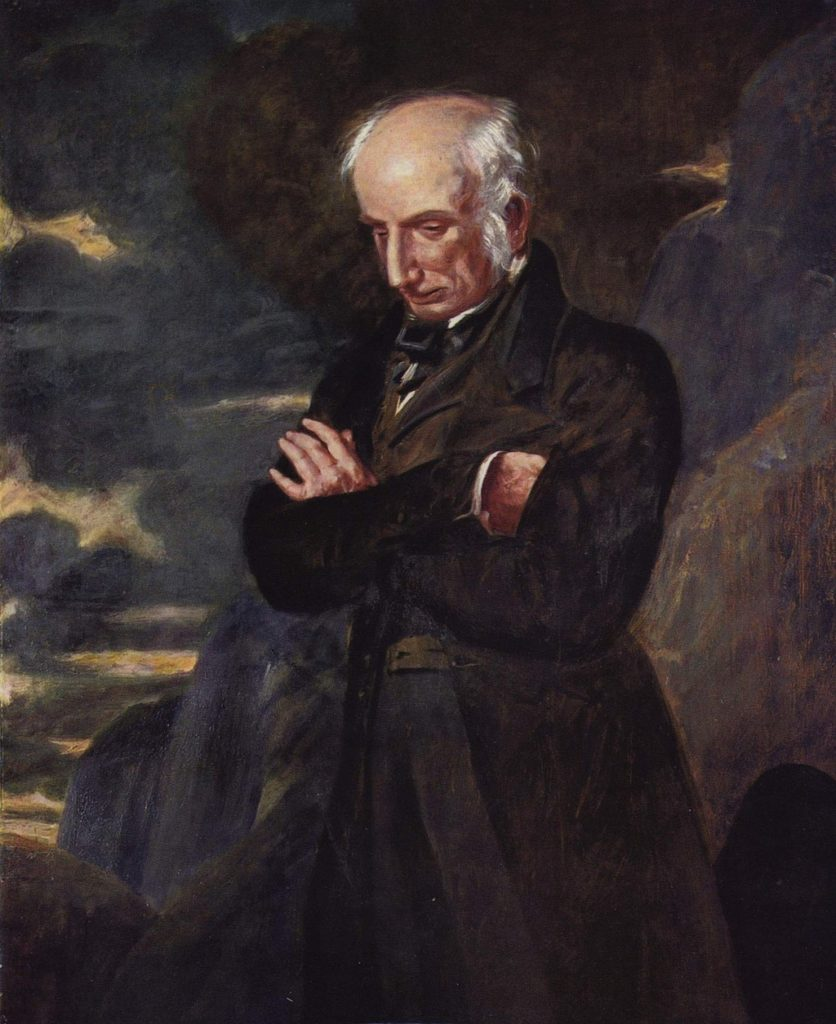 Portrait of William Wordsworth by Benjamin Robert Haydon at National Portrait Gallery in London.  Photo Credit:  © Public Domain via Wikimedia Commons.