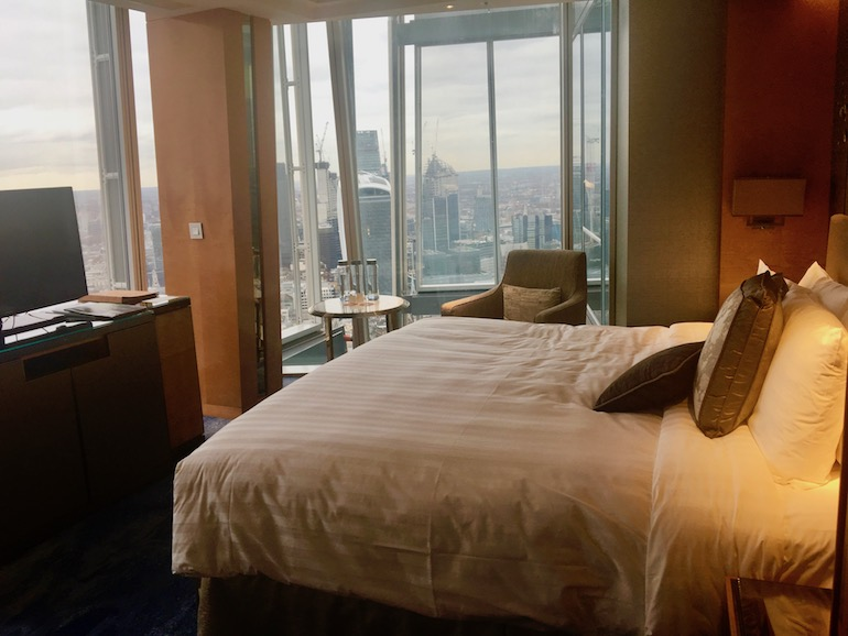 Room at Shangri-La Hotel at The Shard London. Photo Credit: © Ursula Petula Barzey.