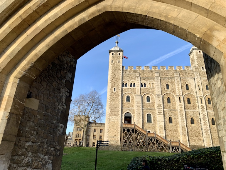 The southern face of the White Tower Built in the 1080s - the oldest part of the Tower of London estate. Photo Credit: © Antony Robbins.