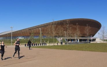 Velodrome (now Lee Valley VeloPark), Queen Elizabeth Olympic Park, Stratford, East London. Photo Credit: © Steve Fallon.