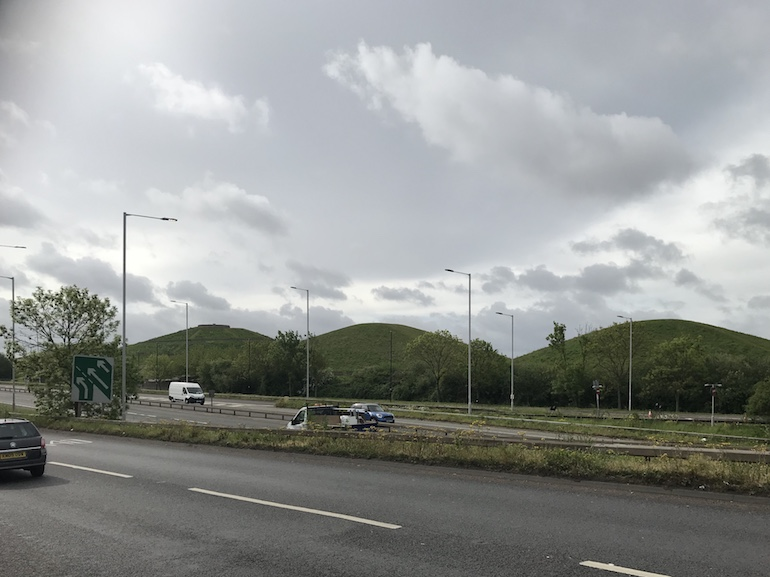 3 of the 4 'Northolt Alps' the local nickname for the man made conical hills constructed alongside the A40. Photo Credit: © Steven Szymanski.