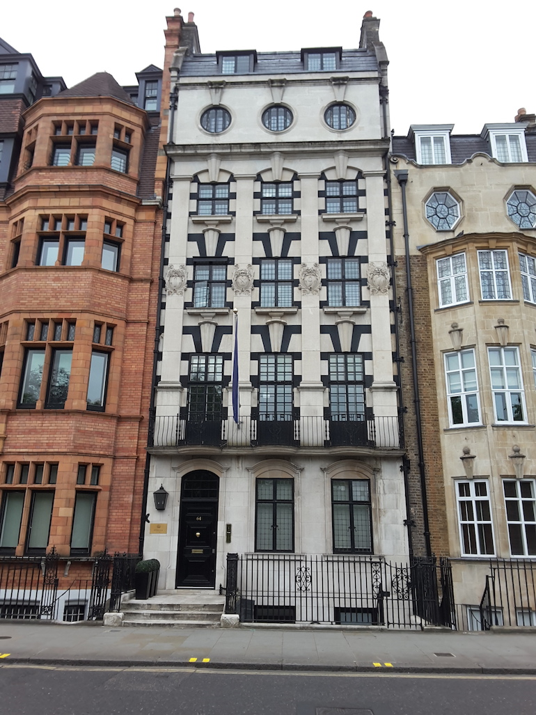 64 Sloane Street in London. Photo Credit: © Ingrid M Wallenborg.