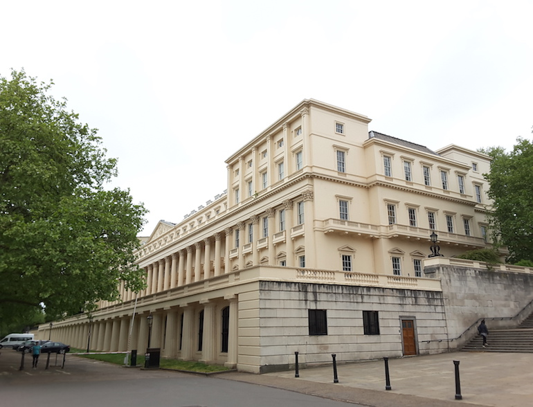 Carlton House Terrace, on the site of the former Carlton House. Photo Credit: © Ingrid M Wallenborg.