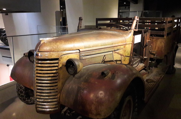 LRDG truck at Imperial War Museum in London. Photo Credit: © Caroline Piper.