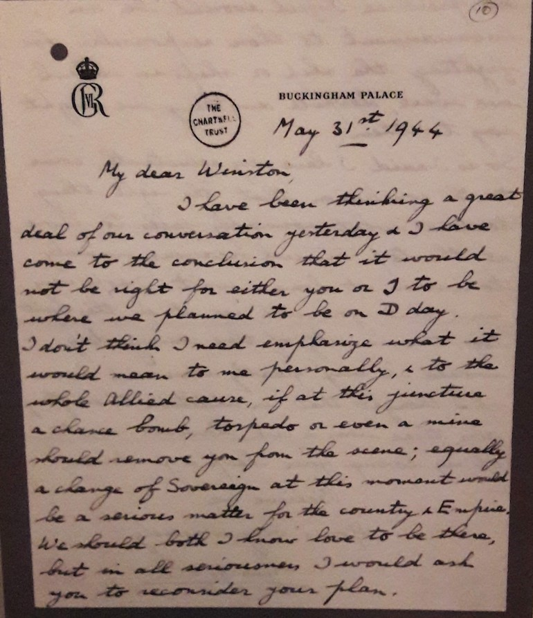 Letter from George VI to Winston Churchill. Photo Credit: © Caroline Piper.