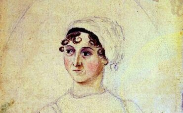 Portrait of Jane Austen by her sister Cassandra, in watercolour and pencil. Photo Credit: © Ingrid M Wallenborg.