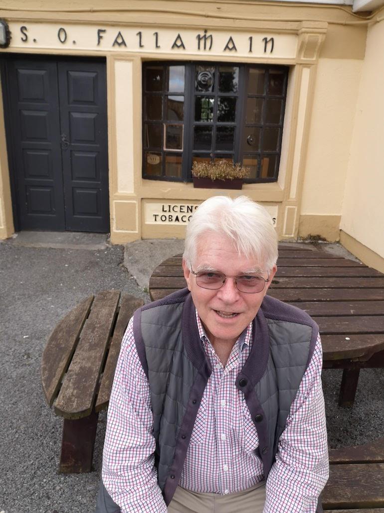 Steve Fallon outside Fallon's pub, Dysart, County Roscommon, Ireland. Photo Credit: © Steve Fallon.