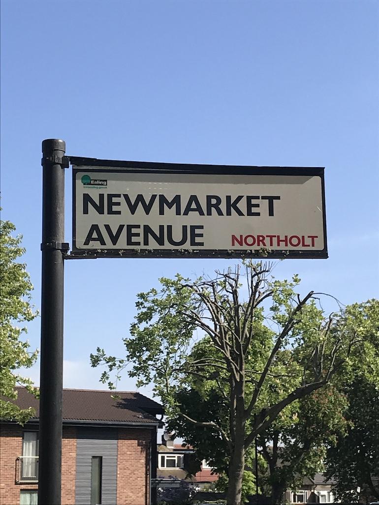 Street sign from the Racecourse estate in Northolt. Photo Credit: © Steven Szymanski.