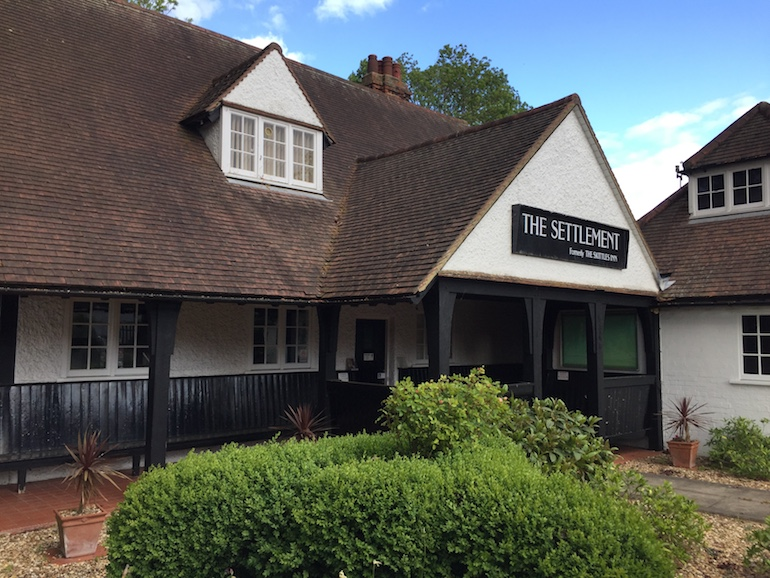 The Skittles Inn in Letchworth. Photo Credit: © Alex Hetherington.