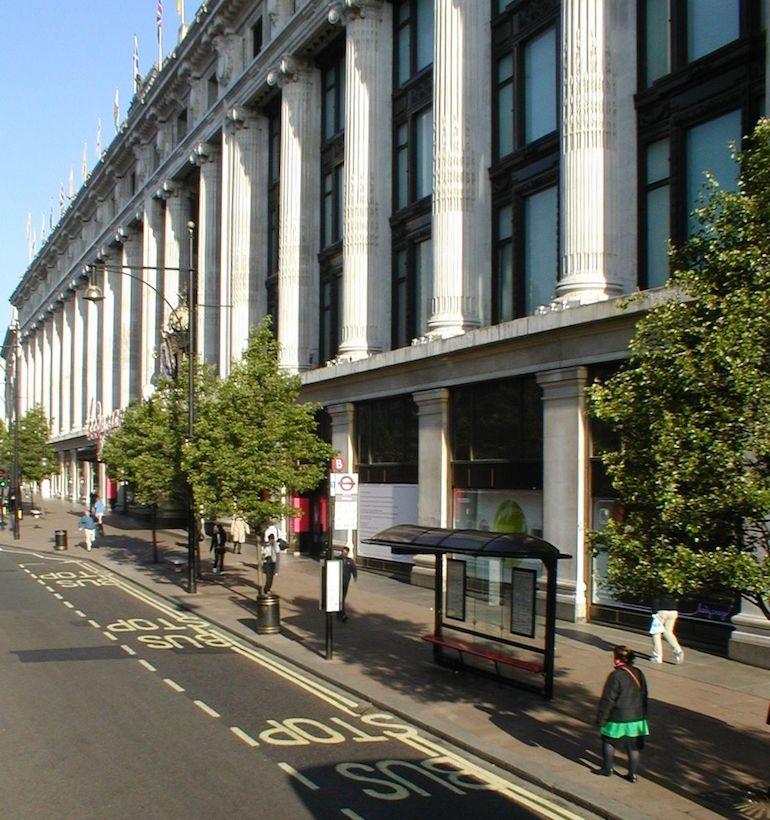 Selfridges on Oxford Street in London. Photo Credit: © Russ London.