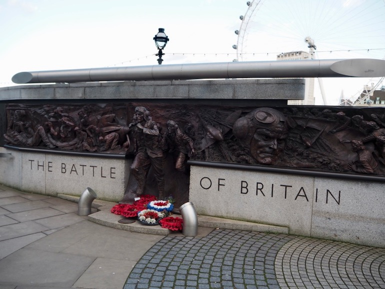 The Battle of Britain Memorial on the Victoria Embankment in London. Photo Credit: © Ursula Petula Barzey.
