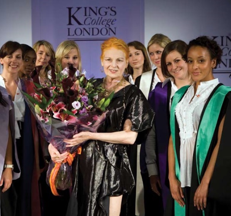 Vivienne Westwood at King's College London in 2008. Photo Credit: © FormerBBC via Wikimedia Commons.