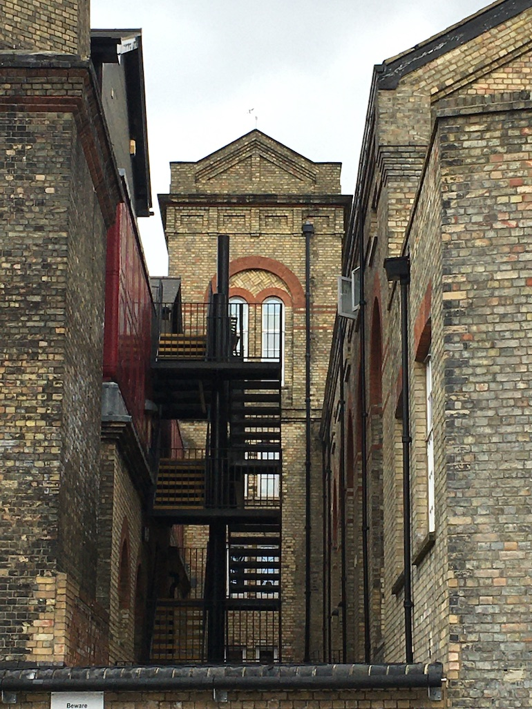 19th century industrial building in London. Photo Credit: © Rowan Freeland.