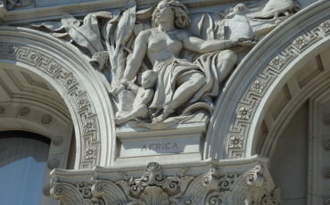 Sculpture representing Africa on exterior of the Foreign & Commonwealth Office, Whitehall, London. Photo Credit: © Angela Morgan.