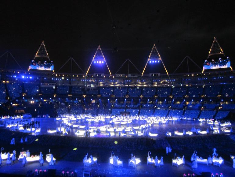 Tribute to NHS at London 2012 Olympics Opening Ceremony. Photo Credit: © Ursula Petula Barzey.