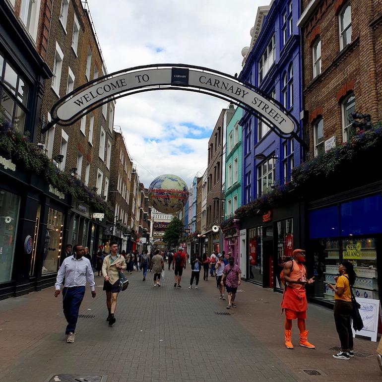 Carnaby Street in London. Photo Credit: ©Ursula Petula Barzey.