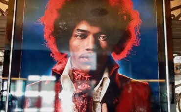 Jimi Hendrix photo at Sanctum Soho Hotel. Photo Credit: © Ursula Petula Barzey.