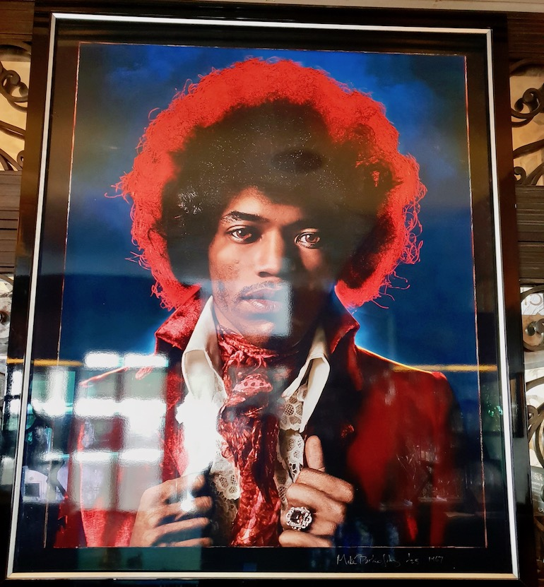 Jimi Hendrix photo at Sanctum Soho Hotel. Photo Credit: © Ursula Petula Barzey.