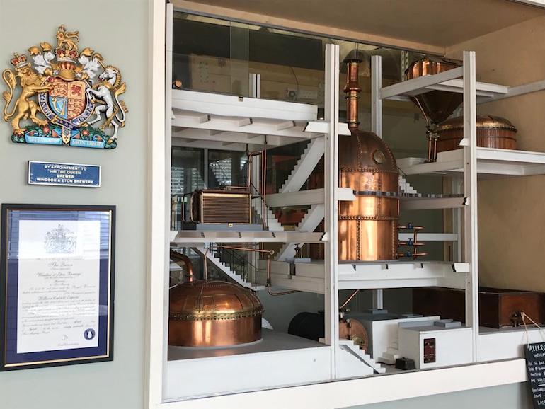 The Royal Warrant at Windsor & Eton Brewery. Photo Credit: © Leila Pelikan.