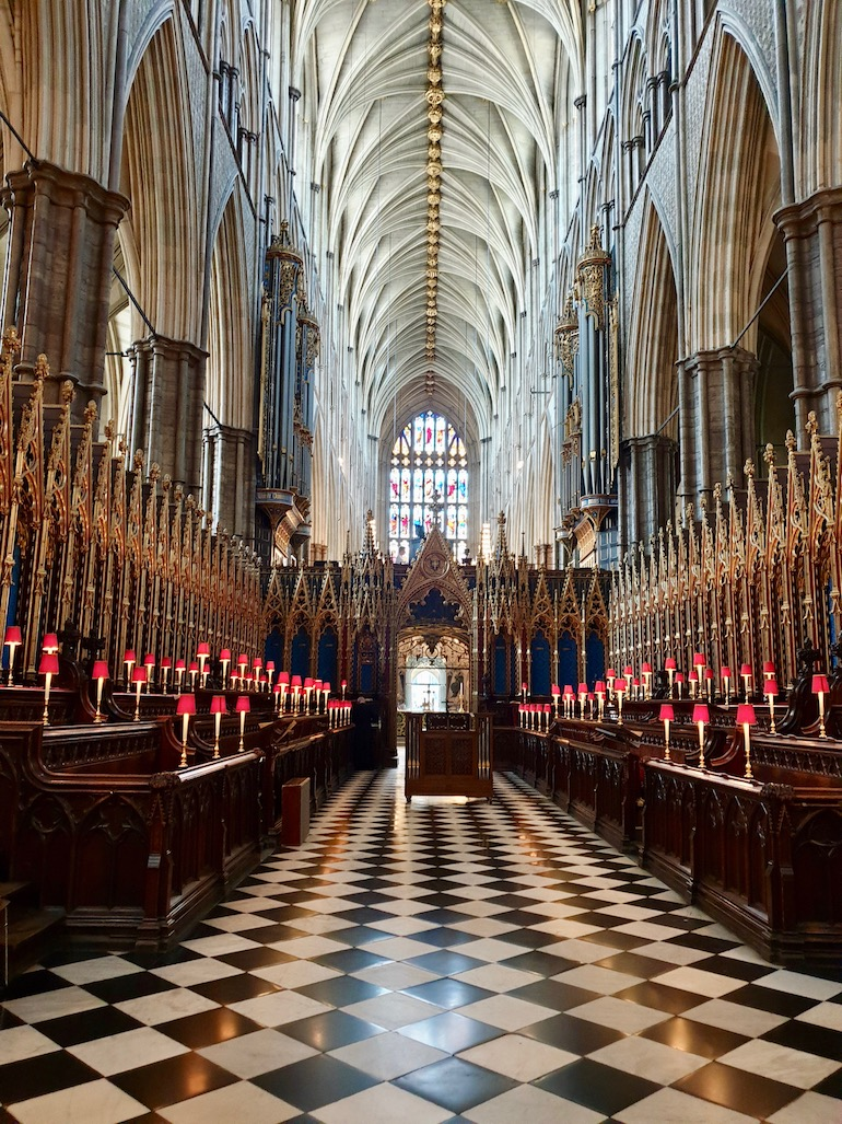 View inside Westminster Abbey in London. Photo Credit: © Ursula Petula Barzey.