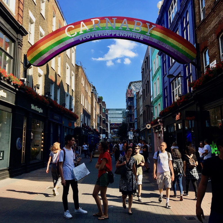 A summer day on Carnaby Street in London. Photo Credit: ©Ursula Petula Barzey.