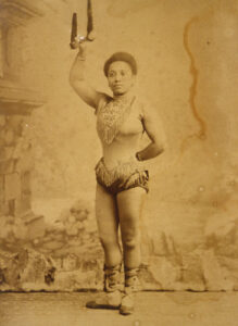 Anna Olga Albertina Brown aka Miss La La. Photo Credit: © Public Domain via Wikimedia Commons.