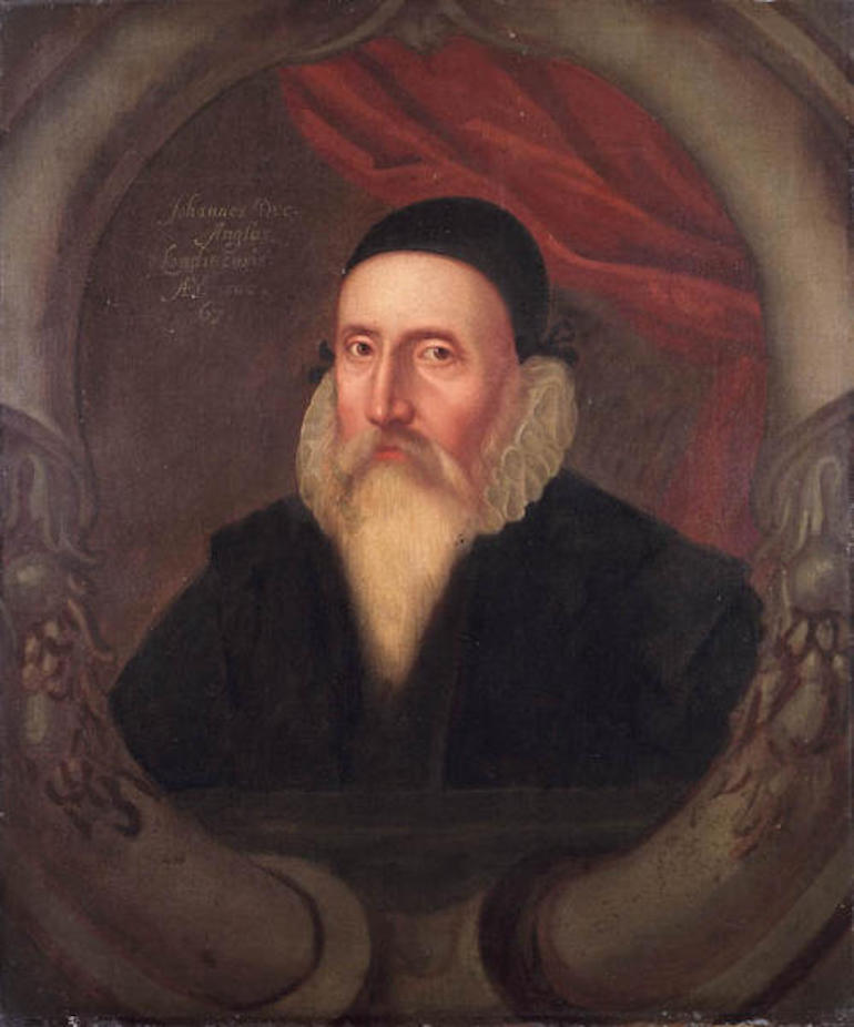 Painting of John Dee, the pre-eminent magician of the Elizabethan age. Photo Credit: © Public Domain via Wikimedia Commons.
