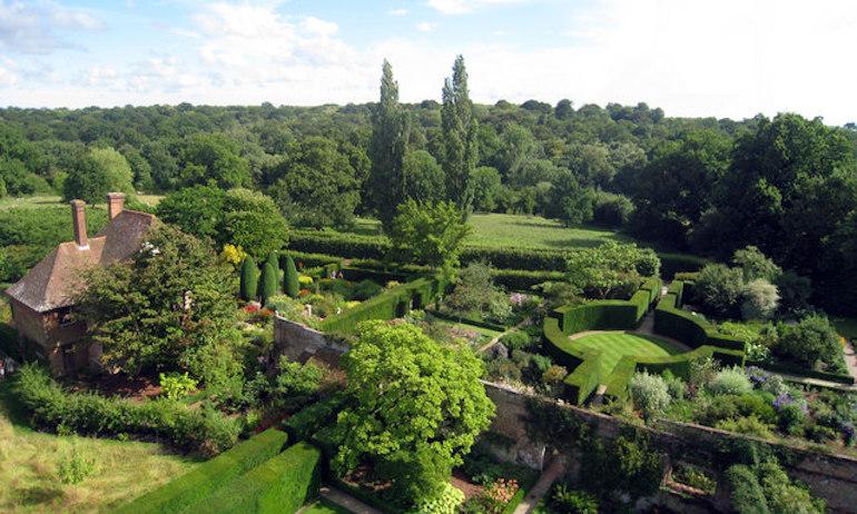 Formal Gardens at Sissinghurst Castle. Photo Credit: © Oast House Archive via Wikimedia Commons.