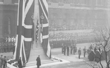 unveiling of the permanent Cenotaph in London at Whitehall, by King George V, 11 November 1920. Photo Credit: © Imperial War Museum.