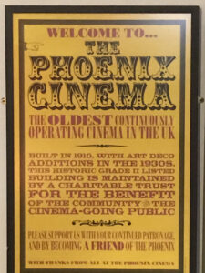 Phoenix Cinema history plaque in poster style. Photo Credit: © Steven Szymanski.