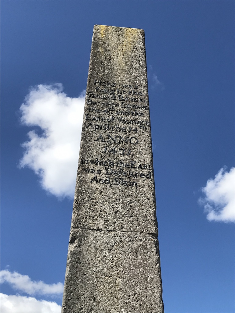 Battle of Barnet - 18th century monument. Photo Credit: © Steven Szymanski.