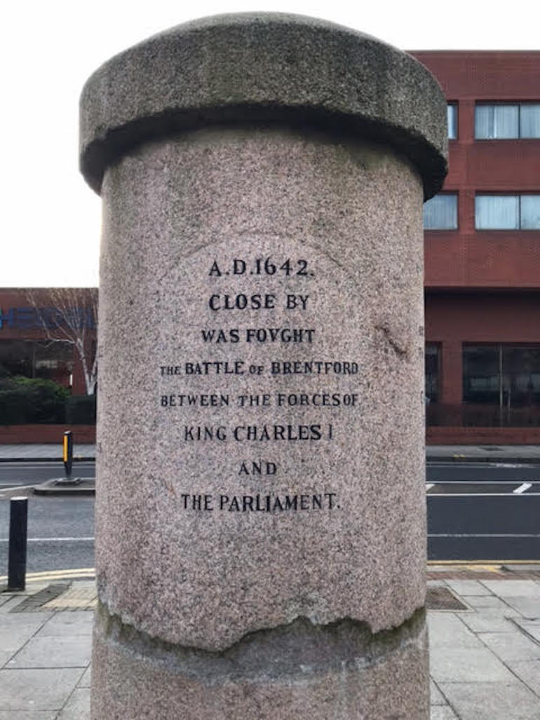 Brentford Monument with Civil War Inscription. Photo Credit: © Steven Szymanski.