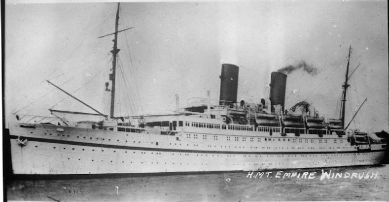 HMT Empire Windrush. Photo Credit: © Public Domain via Wikimedia Commons.