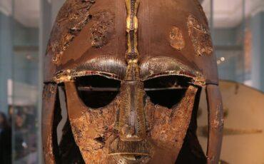 Sutton Hoo helmet at British Museum. Photo Credit: ©Geni via Wikimedia Commons.