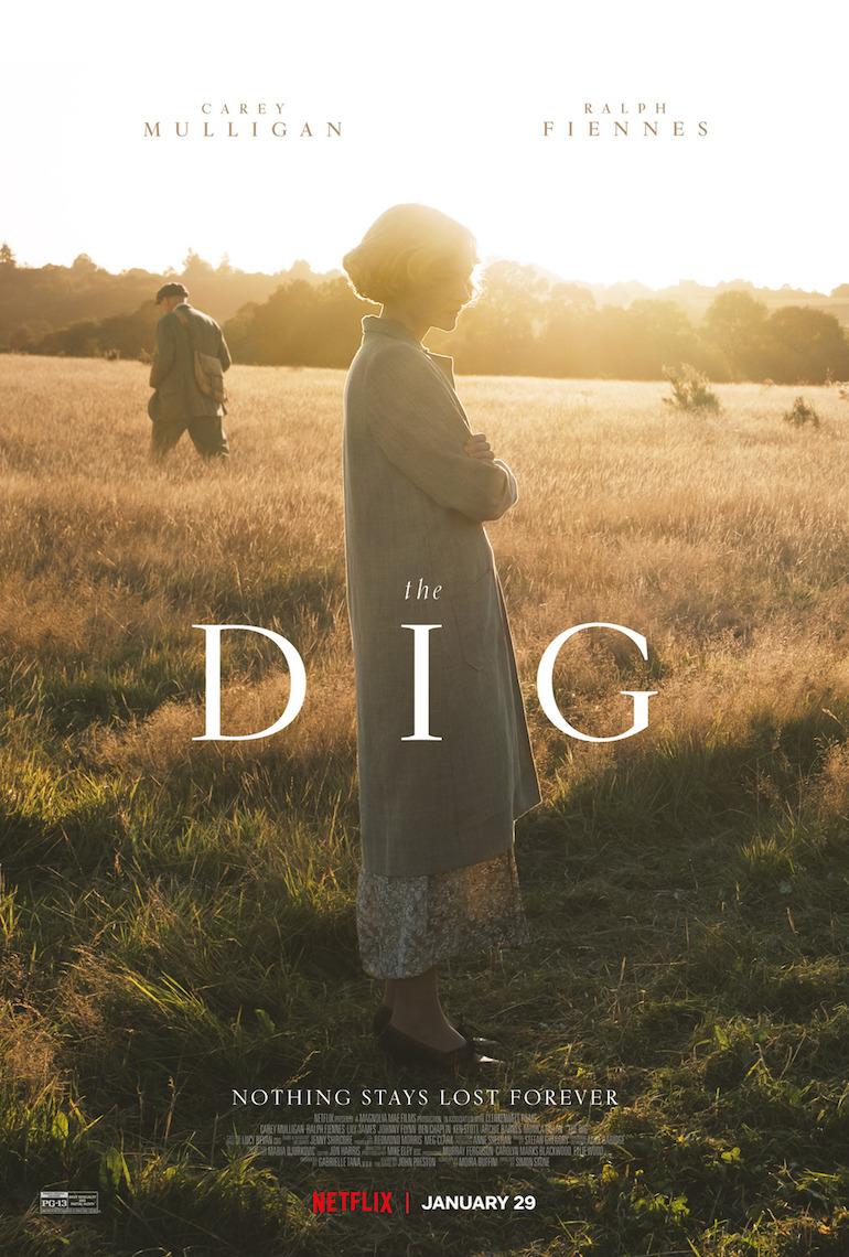 Movie poster for Netflix The Dig film based on book John Preston. Photo Credit: ©Netflix.