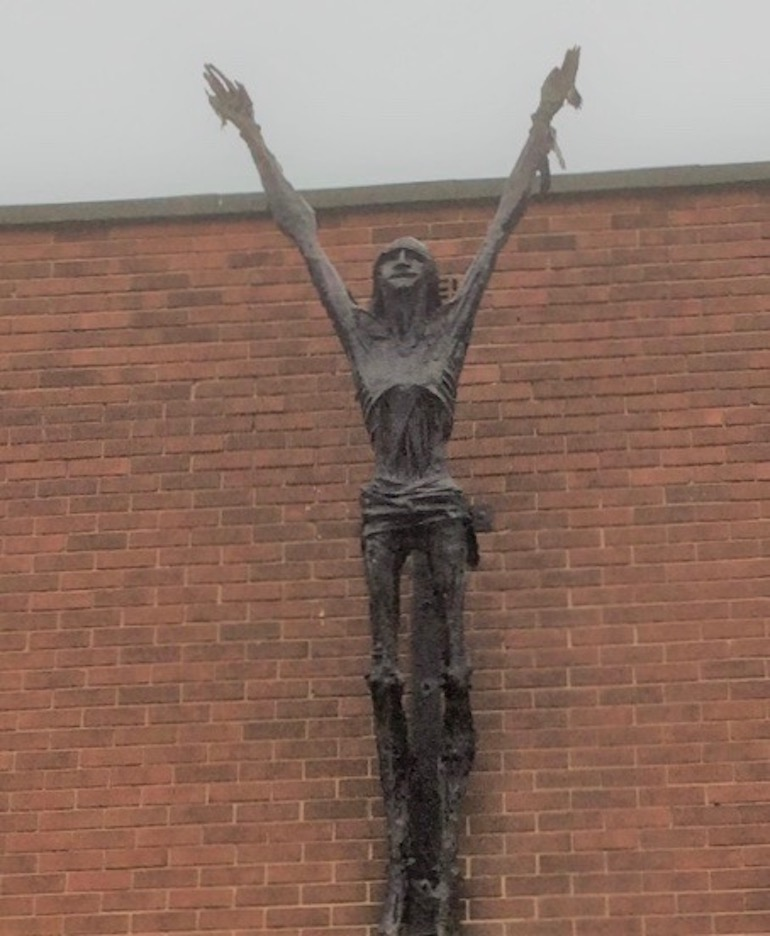 The Resurrection of Christ statue modeled by Lord Woodbine and created by artist Arthur Dooley. Photo Credit: ©Angela Morgan.