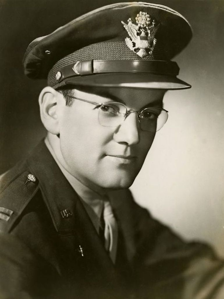 American big-band trombonist Glenn Miller who entertained troops during World War II. Photo Credit: ©Imperial War Museum.