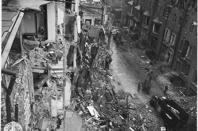 Bomb damage in Chelsea area of London during World War II. Photo Credit: © Imperial War Museum.