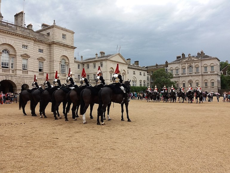 Horse Guards Parade in London. Photo Credit: © Romainbehar via Wikimedia Commons.