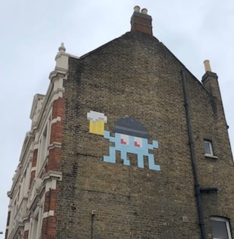 Invader, Bell Pub, Forest Road, Walthamstow. Photo Credit: ©Gail Jones.
