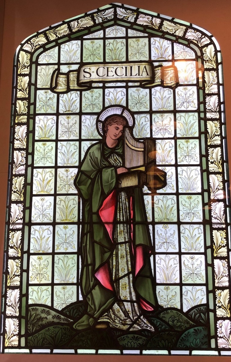 Stained-glass window by William Morris 1897. Photo Credit: © Gail Jones.