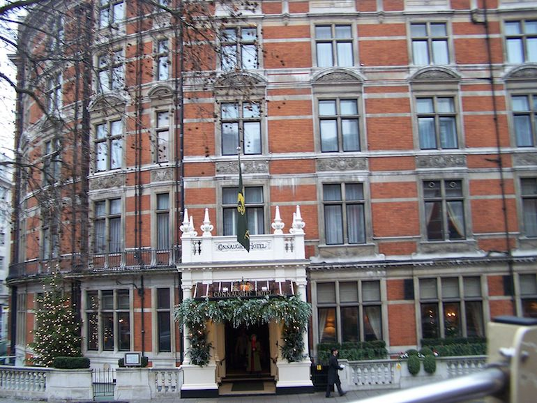The Connaught Hotel in London. Photo Credit: © Soham Banerjee via Wikimedia Commons.