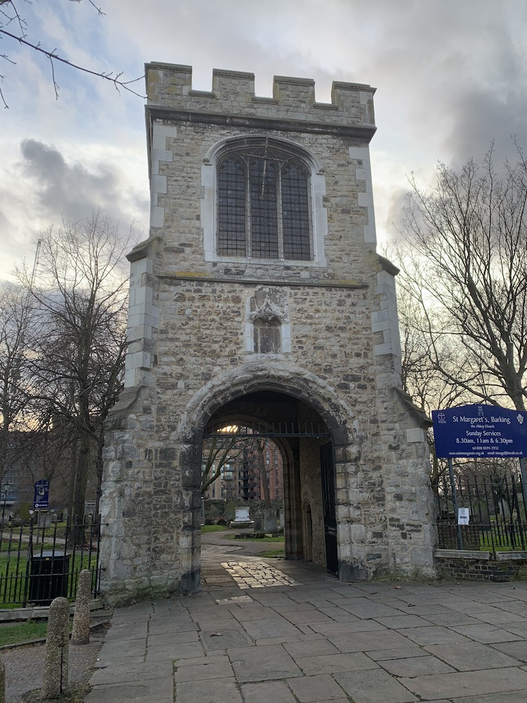 Tower entrance to the Barking Abbey. Photo Credit: © Anne-Marie Walker.