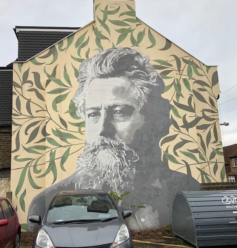 William Morris mural in Walthamstow, London. Photo Credit: ©Gail Jones.