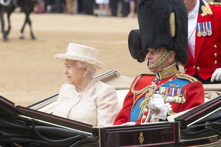 Queen Elizabeth & Prince Philip at Trooping of the Colour, 2015. Photo Credit: © Myles Cullen via Wikimedia Commons.