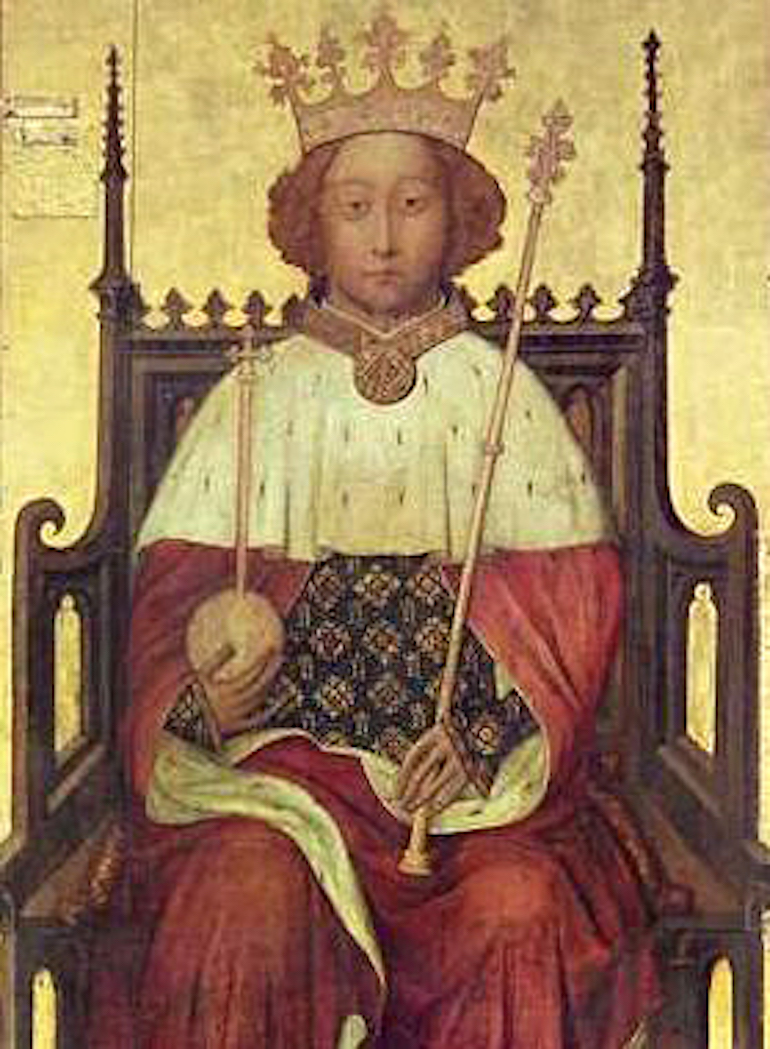 Portrait of Richard II of England at Westminster Abbey, mid-1390s. Photo Credit: ©Public Domain via Wikimedia Commons.