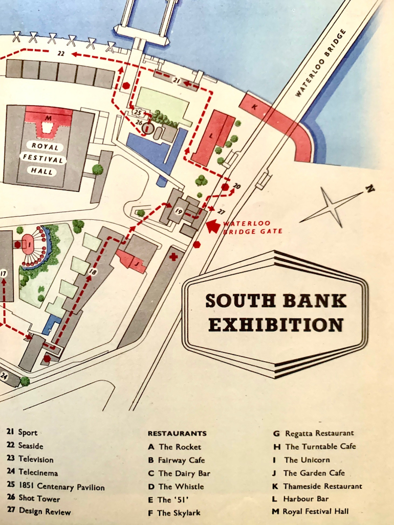 The South Bank Festival of Britain site had 13 restaurants. Photo Credit: © HM Stationery Office.