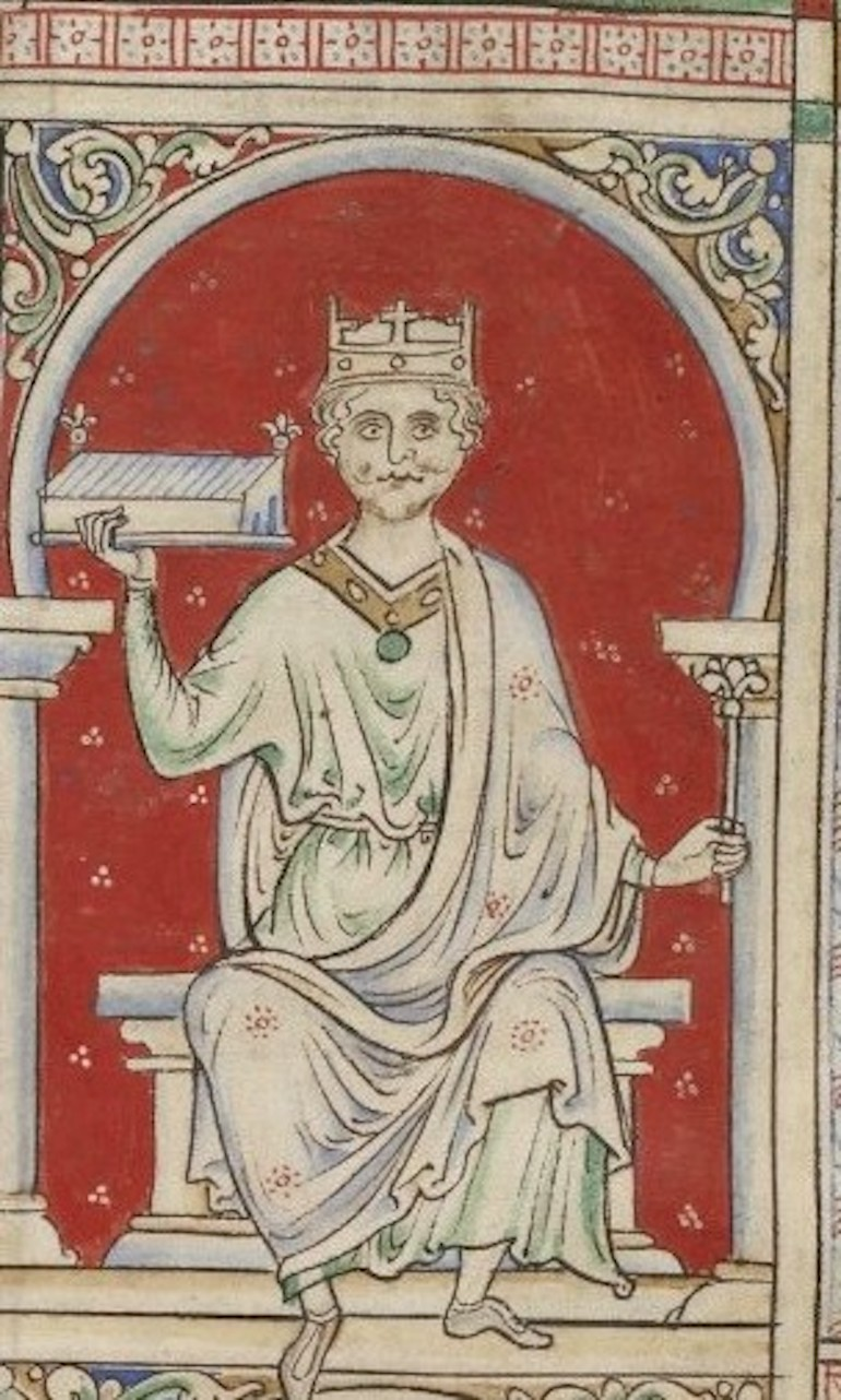 William II of England drawn by Matthew Paris. Photo Credit: © Public Domain via Wikimedia Commons.