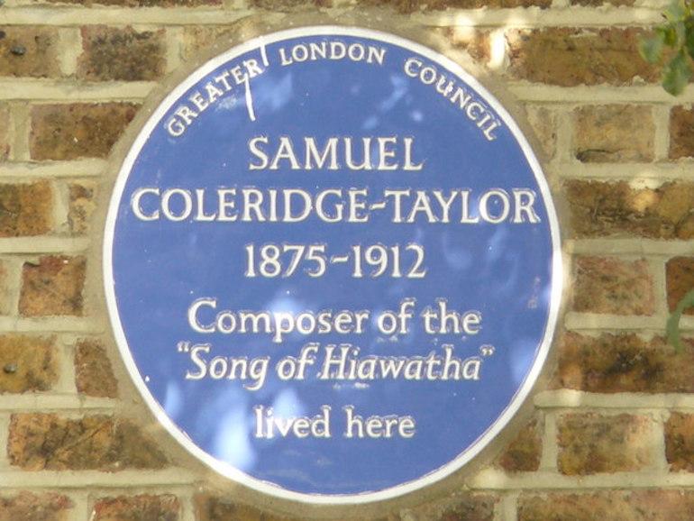 Blue Plaque for Samuel Coleridge-Taylor, Dagnell Park, Selhurst. Photo Credit: © Peter Trimming via Wikimedia Commons.